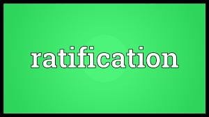 「ratification」の画像検索結果
