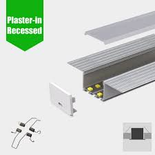 led profile plaster in recessed slim for led strip aluminium led channel c