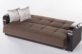 futon : Furniture White Futon Sofa Bed With Arm And Back Having ...