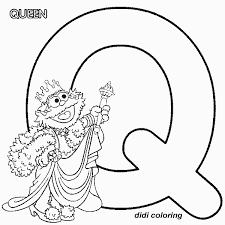 Small Picture Printable preschool alphabets uppercase letter Q Queen coloring