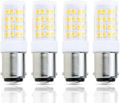 Halogen Replacement Led Lights Lamsky 4 Pack Led Ba15d Double Contact Bayonet Base Ac110 130v 4w Led Light Bulb T3 T4 C7 S6 Warm White 2700k Led Halogen Replacement Bulb No Dimmable