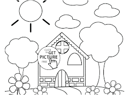 Preschool Spring Coloring Pages Clanfieldinfo