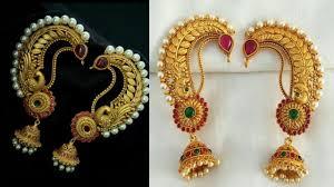 Ear Cuffs Indian Design Traditional Gold Ear Cuff Earrings Designs