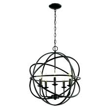 bronze orb chandelier black 4 light oil rubbed bronze sphere chandelier