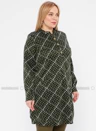 Collar Style Neck Design Green Multi Crew Neck V Neck Collar Plus Size Tunic