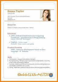 8 Curriculum Vitae Samples Download Prome So Banko