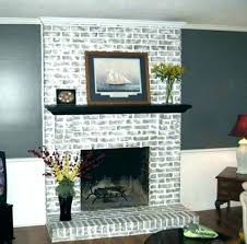 I Fireplace Paint Colors Painting Red Brick Living Room With  To