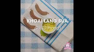 ĂN SÁNG CHO BÉ] Khoai Lang luộc nghiền sữa cho bé   Ăn dặm kiểu Nhật 9~10  tháng - YouTube