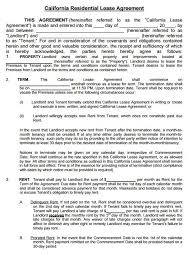 Free Residential Lease Agreement Template Pdf Rental