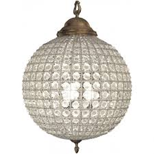 libra lighting and furnishings round 36013 crystal effect brass ball chandelier medium