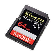 Thẻ nhớ Sandisk SD 64gb/170mb | CỬA HÀNG MÁY ẢNH CŨ HÀ NỘI