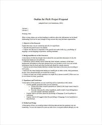 12 Project Proposal Outline Templates Pdf Word Free