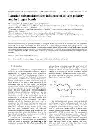 Pdf Laurdan Solvatochromism Influence Of Solvent Polarity