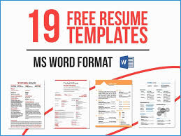 Resume Templates Free Download For Microsoft Word Great Download
