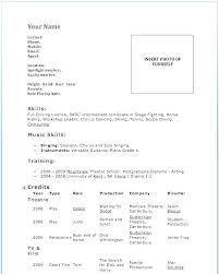 Resume Layout Examples Delectable Dance Resumes Template New Ballet Cv Template Dance Resume Layout