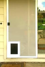 screen door with pet door built in patio door with pet door built in sliding door screen door with pet