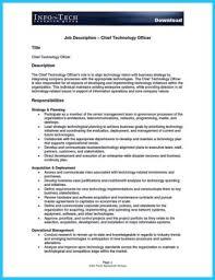Cto Job Description. This Has Become A Fulltime Job Given The High ...