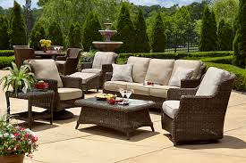 wicker patio furniture. Patio \u0026 Garden : Outdoor Furniture From Synthetic And Natural Wickers Like Wicker Sofa Coffee Table As Well Corner Plus 2
