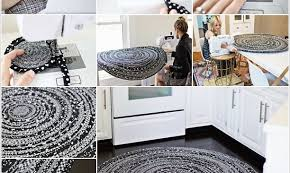 DIY Craft Project: Rug Using Fabric Ropes