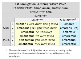 Latin Verb Conjugation Chart Translation 1st Conjugation Dickinson College Commentaries