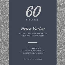 60th birthday invitations for him customize 986 60th birthday invitation templates online canva