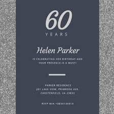 Customize 986 60th Birthday Invitation Templates Online Canva