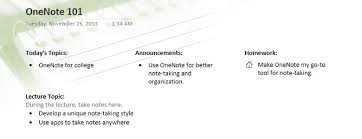Onenote Templates 2013 How To Use Onenote To Become A Master Note Taker Hackcollege