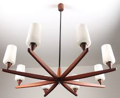 italian mid century chandelier in plated aluminum with opaque