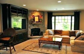new stone corner fireplace and ideas design with natural fresh gas log amazing
