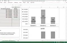 Excel Loan Payment Template Amortization Comparison Free Download ...
