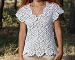 Как связать летнюю блузку