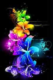 A rainbow of neon flowers