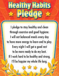 Chart On Healthy Habits Healthy Habits Pledge Chart