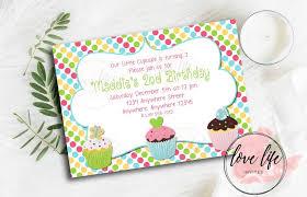 cupcake birthday invitations free printable 1st with photo