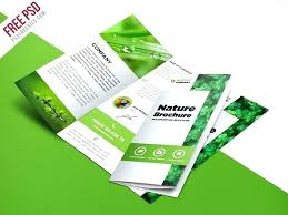 Hotel Brochure Template Free Download Nature Fold Format