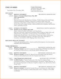 Inspiration Political Science Major Resume About 100 Resume