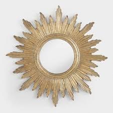 gold sunburst mirror. Large Antique Gold Leila Sunburst Mirror O