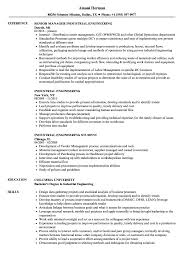 Industrial Engineer Resume Industrial Engineering Resume Samples Velvet Jobs