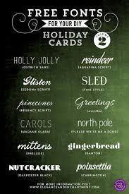fonts for diy holiday cards volume  fonts for your holiday cards