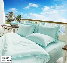 light blue bedding