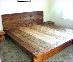 platform bed frame king – zainski.info