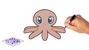 Small Picture How to draw an octopus simple step by step YouTube