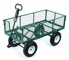 garden cart. With Removable Folding Sides And 13-Inch Pneumatic Tires, 1, 000-Pound Capacity, 48-Inches By 24-Inches, Green Finish : Yard Carts Garden \u0026 Outdoor Cart