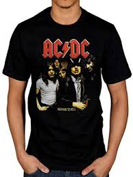 Official <b>AC</b>/DC Highway to Hell <b>T</b>-Shirt <b>Rock Band Rock</b> and Roll Indie