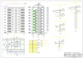 Скачать курсовой проект по основаниям и фундаментам Готовые  9 ти этажная рядовая блок секция г Красноярск