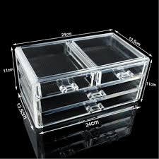 wituse acrylic makeup organizer acrylic clear makeup cosmetic organizer holder jewellery case storage 4 drawers storage box in storage bo bins from