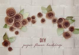 Paper Flower Backdrop Garland Diy Paper Flower Backdrop