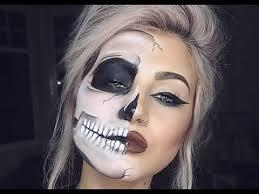 faded half skull glam makeup tutorial you