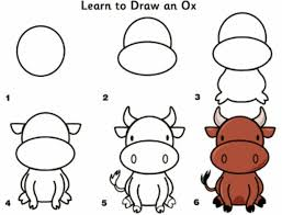 Just print and follow along! How To Draw A Ox Drawing Lessons For Kids Learn To Draw Drawings