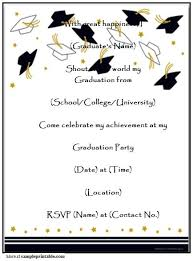 Online Graduation Party Invitations Make Graduation Invitations Online For Free To Print Homemade